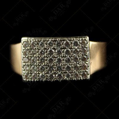 18CT GENTS RING