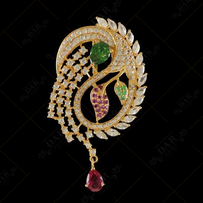 22 KT GOLD STONE PENDENT