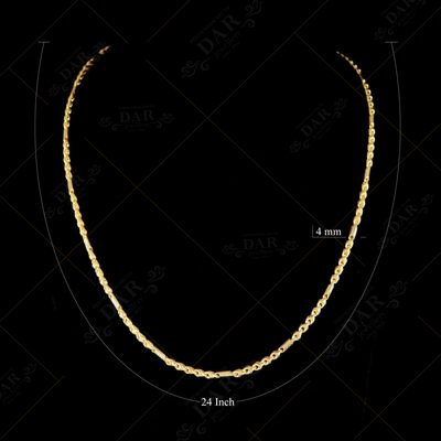22 KT GOLD FANCY CHAIN