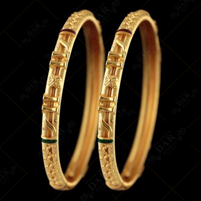 22 KT GOLD CALCUTTA HALF BANGLE