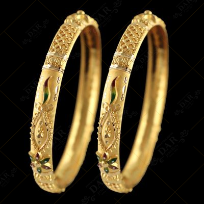 22 KT GOLD CALCUTTA BANGLE