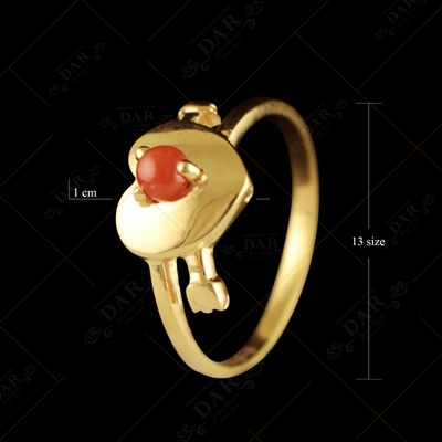 22 KT GOLD STONE RING FOR WOMEN