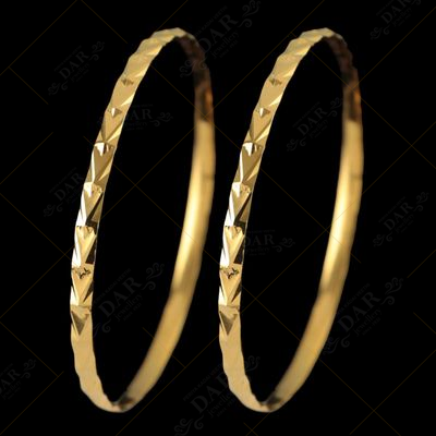 22 KT GOLD MUKKONA JALAJA BANGLE